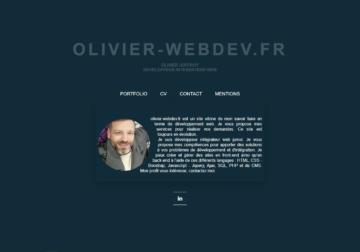 Portfolio olivier-webdev.fr
